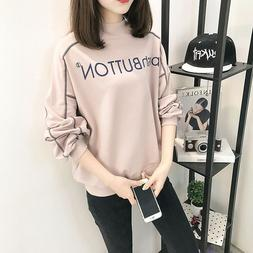 2018 Plus Size Womens Loose Style Top Blouse Shirt Girls Sch