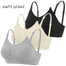 Maternity Nursing Bra Breastfeeding with Pads Breast Feeding