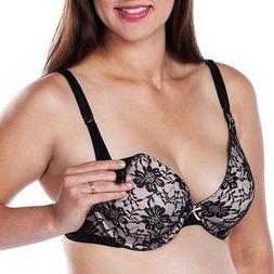 Loving Moments Underwire Nursing Bra with Black Lace Molded