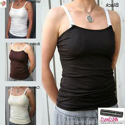 UNDERCOVER MAMA BREAST FEEDING MATERNITY NURSING BRA TANK TO