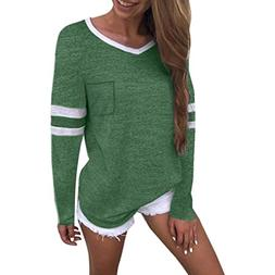 casual v neck long sleeve