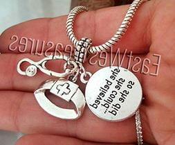 Nurse hat RN Stethoscope Charms Pendant-for Charm Bracelet a