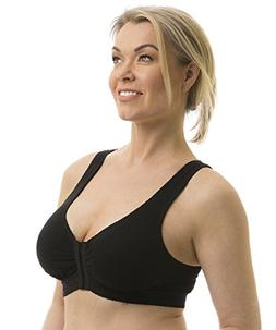 Carole Martin Full-Freedom Front Closure Wireless Cotton Bra