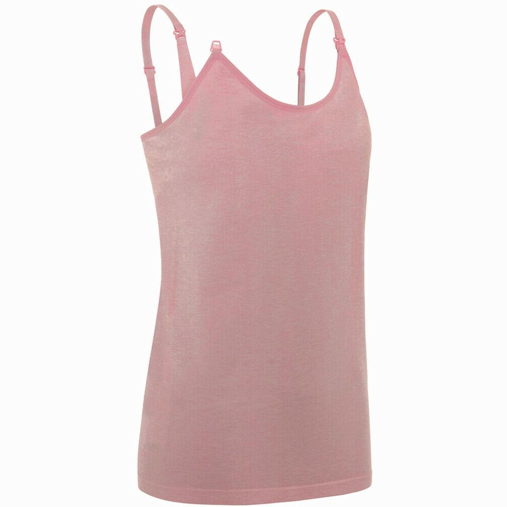 3-Pack Cami Tops with Maternity Bra Breastfeeding