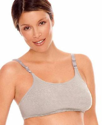 Lamaze Cotton Spandex Comfort Nursing Bra - Heather Grey, M