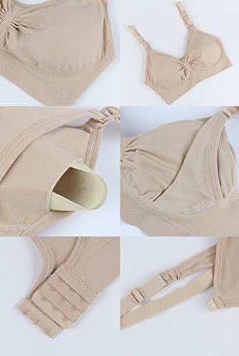 Nursing Bra Maternity 3 Pack Seamless with Removable Spill P