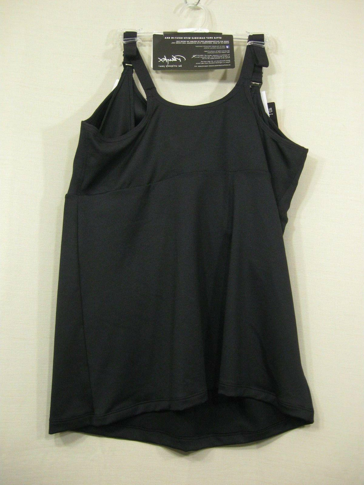 NWT Playtex Black Camisole with Built US4957