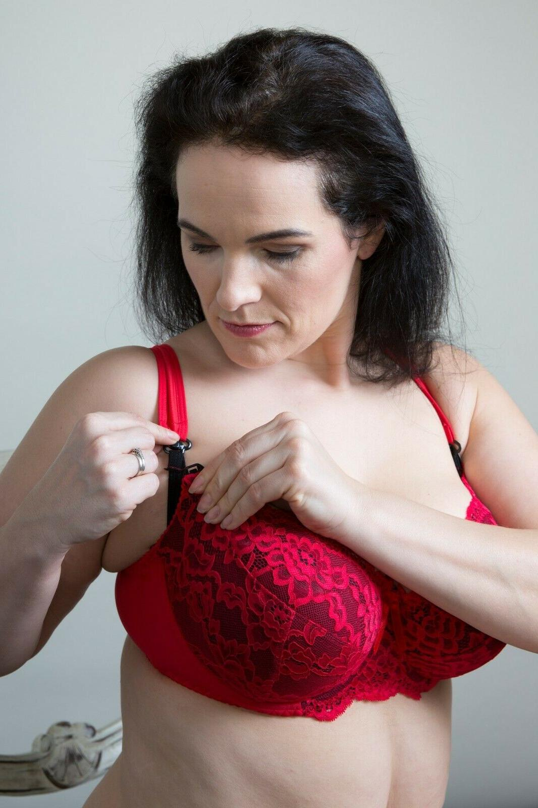 Red Plus Size Maternity Bra