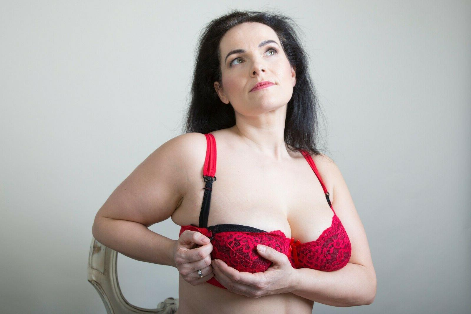 Red Lace Plus Maternity