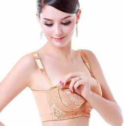 Lace Maternity Nursing Bra Push Up Front Opening Breast Feed