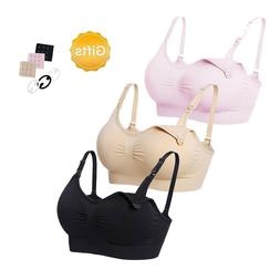 LOT 3 or 6 pcs Bralette Removable Pad Seamless Maternity Nur