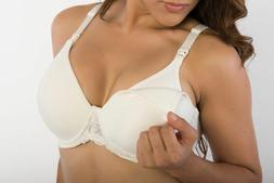 Maternity Nursing Bra Under Wire With Lace Detail 34-42 B C