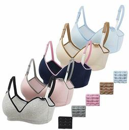 Nursing Bra,5Pack Women'S Maternity Breastfeeding Bra Wirele