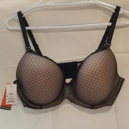 NWT Gilligan O'Malley Nursing Bra Black Tan Lace Padded Unde