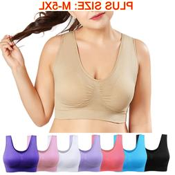 Seamless Fitness Yoga Sports Sleep Bra Women Crop Top Vest N