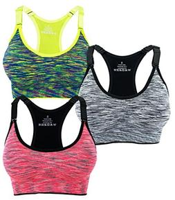 Women's Seamless Wirefree Racerback Adjustable Straps Sports