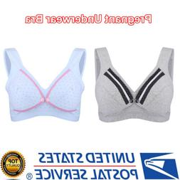 Women Feeding Nursing Cotton Bra Maternity Breastfeeding Pre