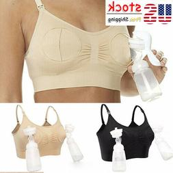 Women Maternity Breast Feeding Pumping Bra Breastpump Hand P