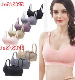 women maternity nursing bra lot breastfeeding removable