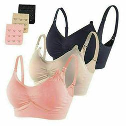 Women Maternity Pregnant Nursing Bra Wire Free Wireless Brea