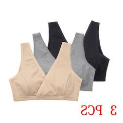 Women Nursing Bra Lot 2/3Pcs Maternity Cotton Tank Breastfee